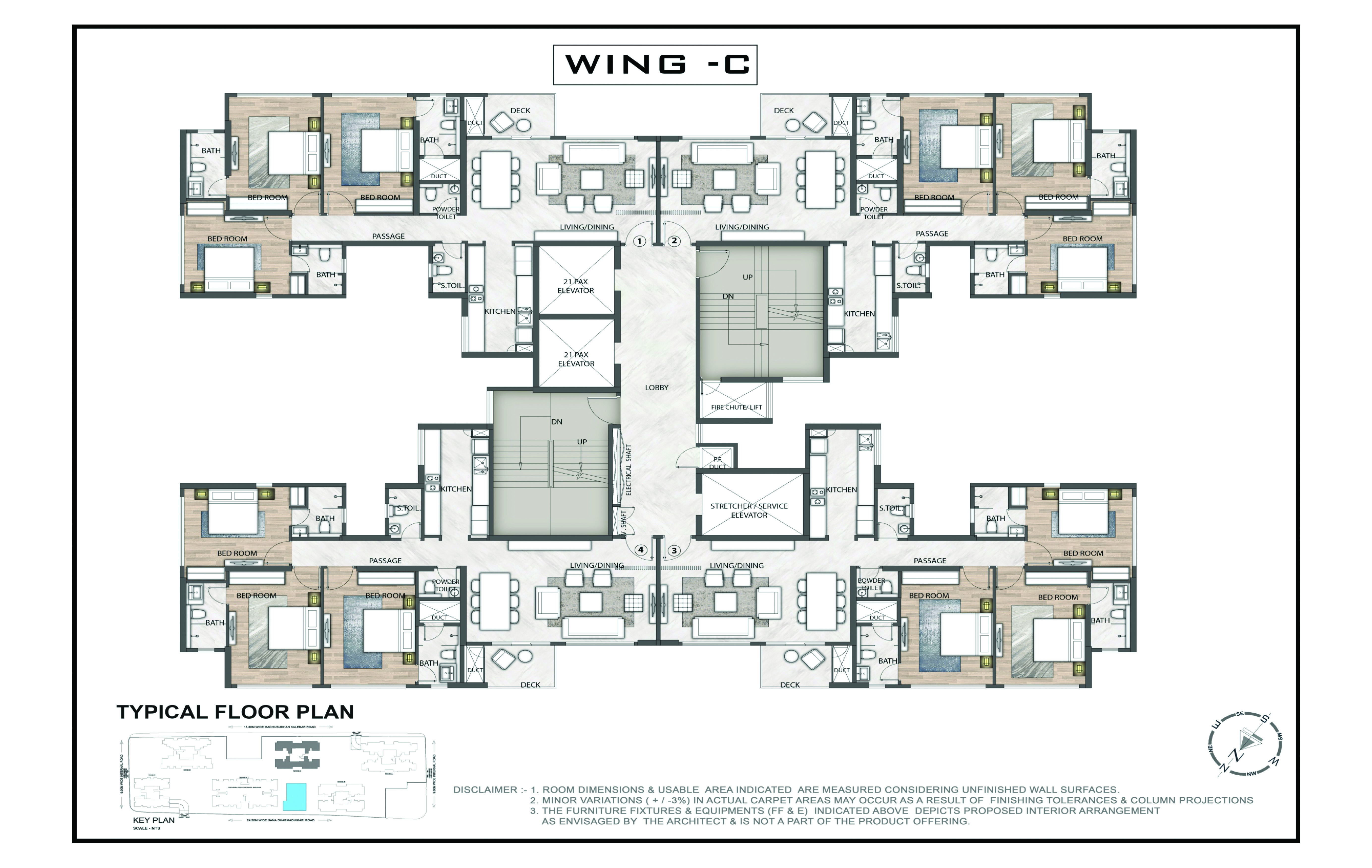 2 Bedroom Senior Citizen Apartments.Floor Plans For Old Age Homes. T ...