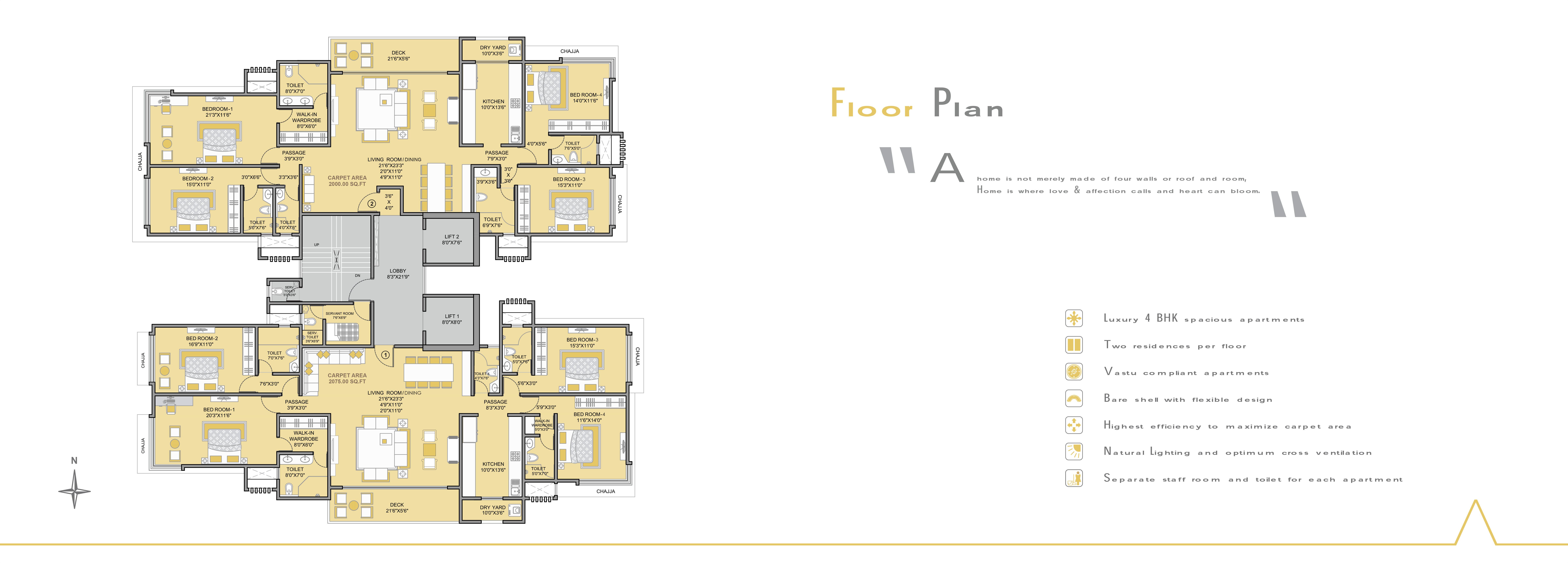 4 Bedroom Grandiose Homes At Prarthna By Kabra Group At